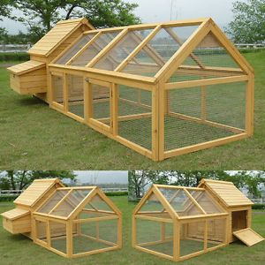 En Coop Run Hen House Poultry Ark Home Nest Box Large Duck Ferret Hutch