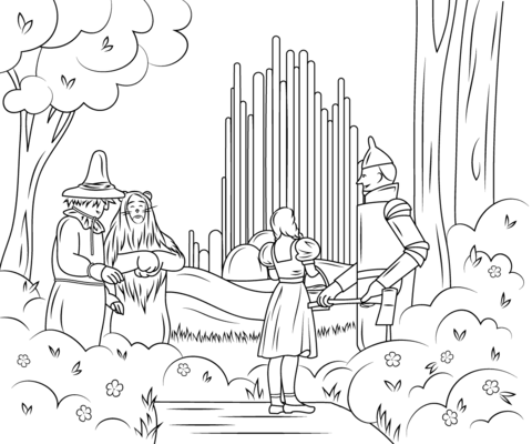 Wizard Of Oz Emerald City Coloring Page Free Printable Coloring Pages Wizard Of Oz Color Coloring Books Coloring Pages