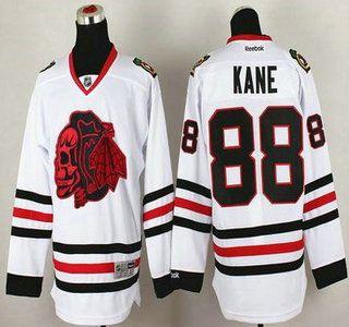 Chicago Blackhawks Jersey 2 Duncan Keith White With Black Skulls Jerseys