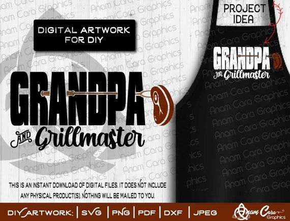 SVG| Grandpa and Grillmaster | Cut or Print DIY Art Fun BBQ Grill Summer Patio 4th July Father's Day #patiodepapas