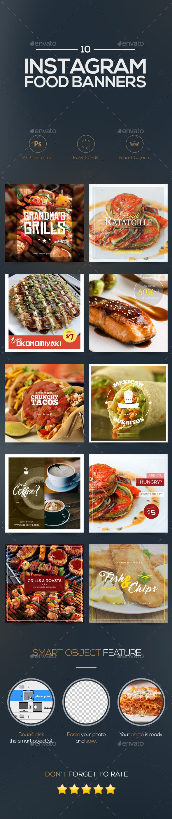10 Food Banners | Psd templates, Promotion and Banners