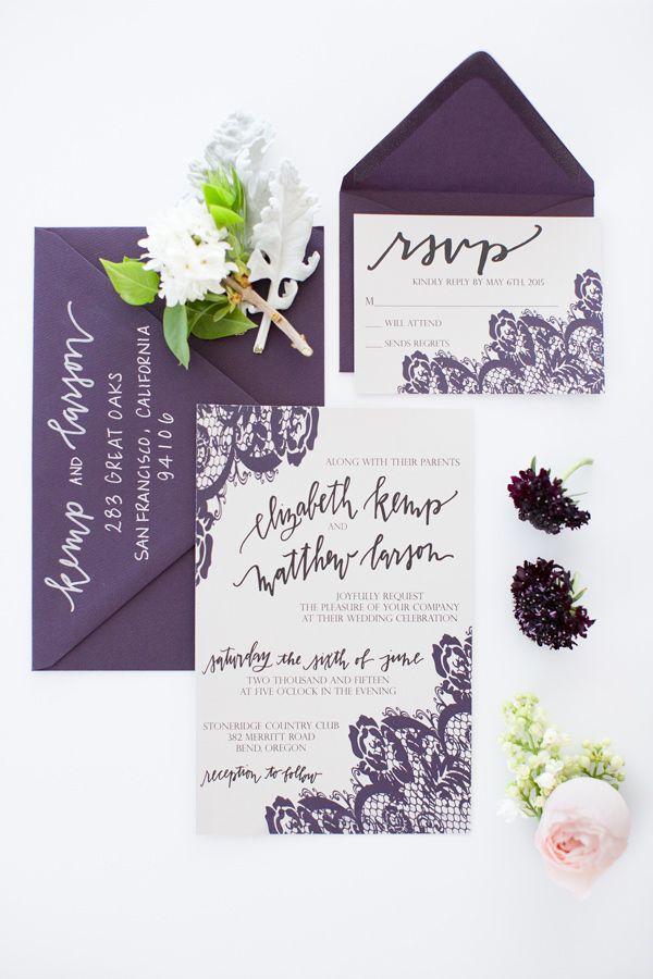 Modern Silver and Purple Wedding Editorial | Purple wedding, Wedding ...