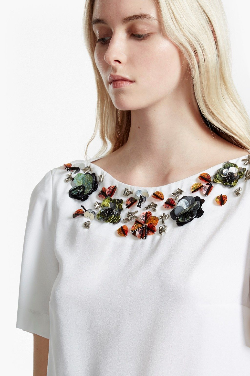 Ernest Floral Embellished Top | Tops | French Connection Usa