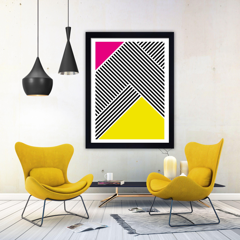 Mid century modern abstract art print minimalist print monochrome ...