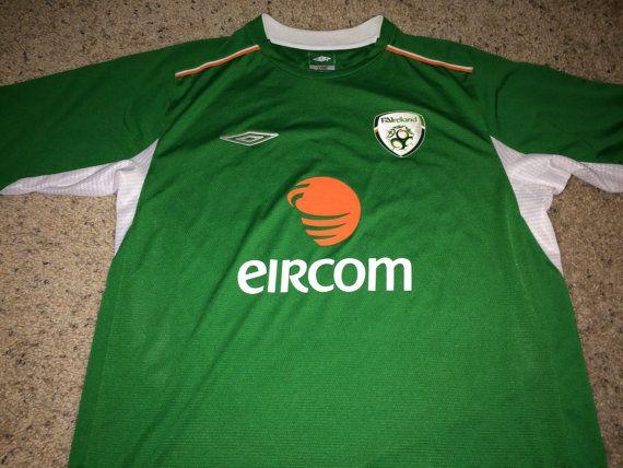 450b31a87 Sale Vintage Umbro IRELAND Soccer Jersey IRISH by casualisme