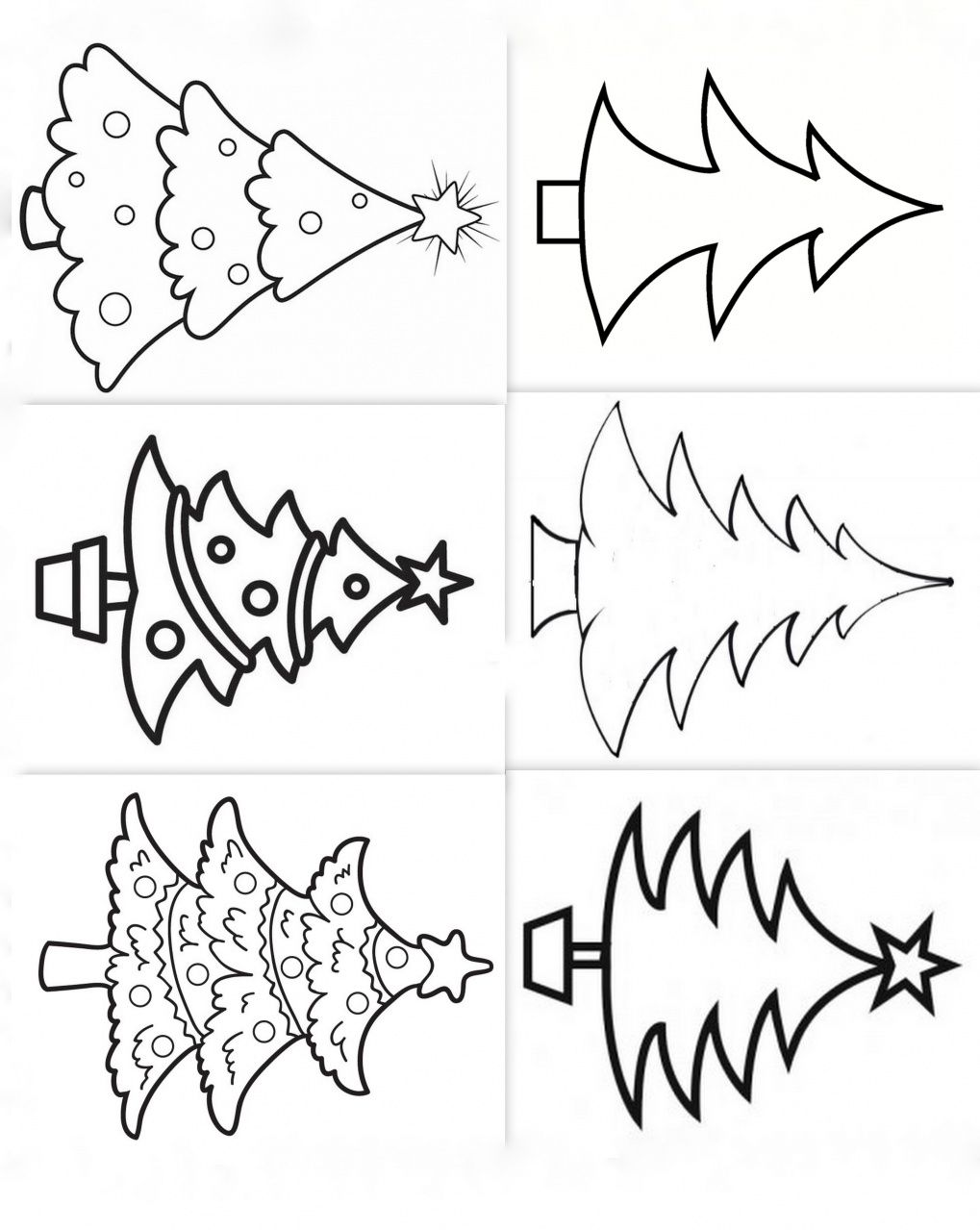 Dessins mod¨les coloriages sapins noel Plus