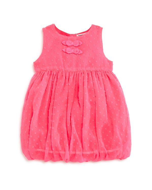 3 Pommes Infant Girls' Crinkle Jacquard Bubble Dress - Sizes 3-24 Months