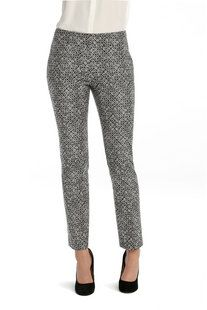 NIC + ZOE WOMENS DOTTY SQUARES ANKLE PANT