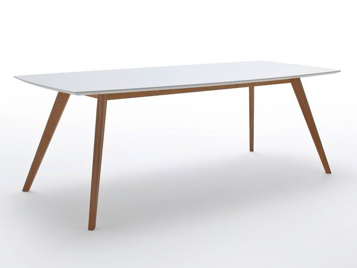 BASIL Esstisch 95x220 Eiche  Weiß Fenix NTM Pinterest - ikea küche tisch