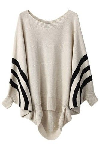I love this poncho...the slightly preppy stripes give the Bohemian shape a cool vibe.