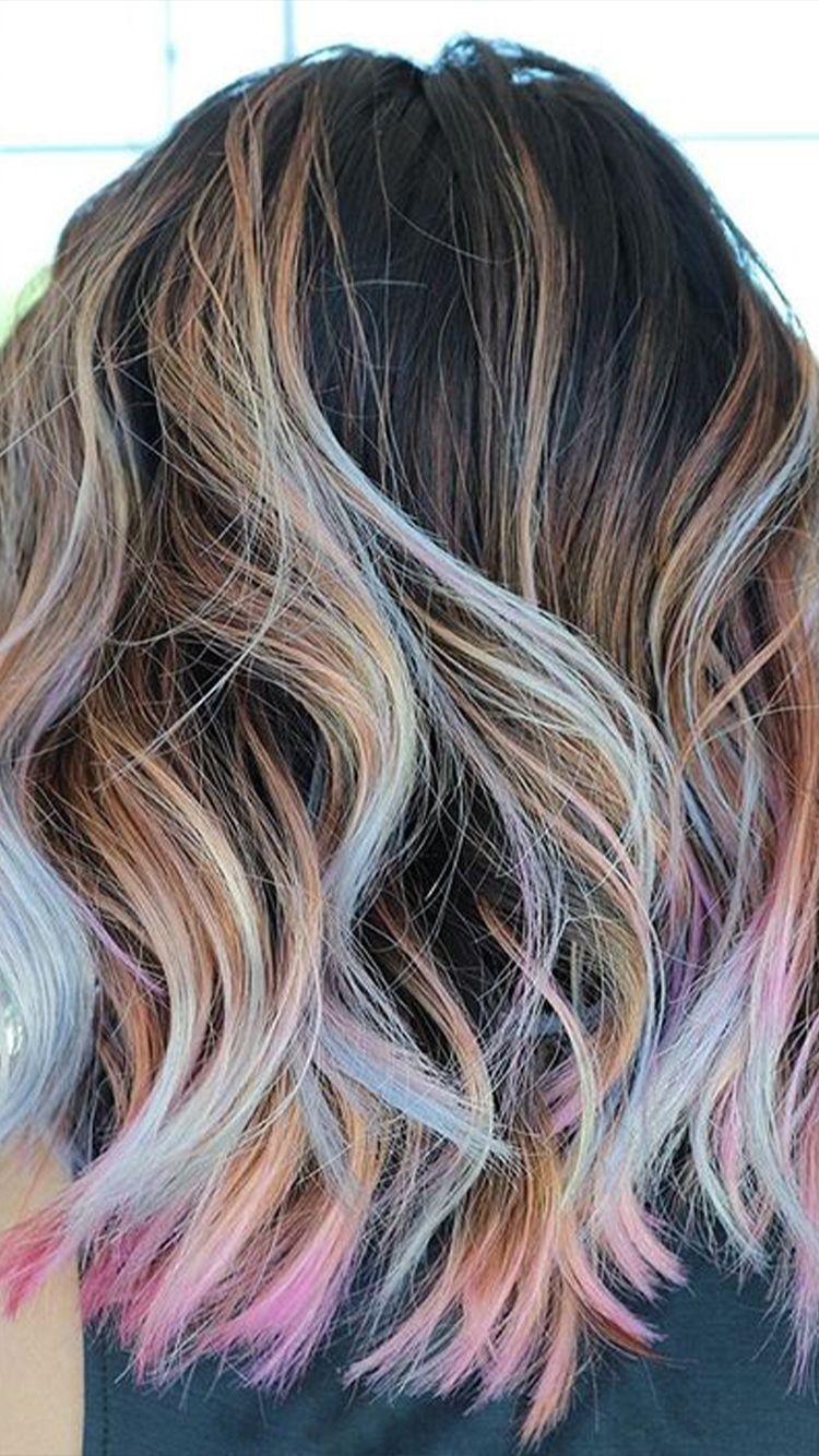 Pin By Michelle Bergemann On Hair In 2020 Pastel Rainbow Hair Peekaboo Hair Summer Hair Trends