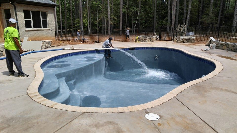 This Pool Will Be Full In 20 Minutes Thanks To Four C S Water Delivery Water Delivery Swimming Pool Water Pool