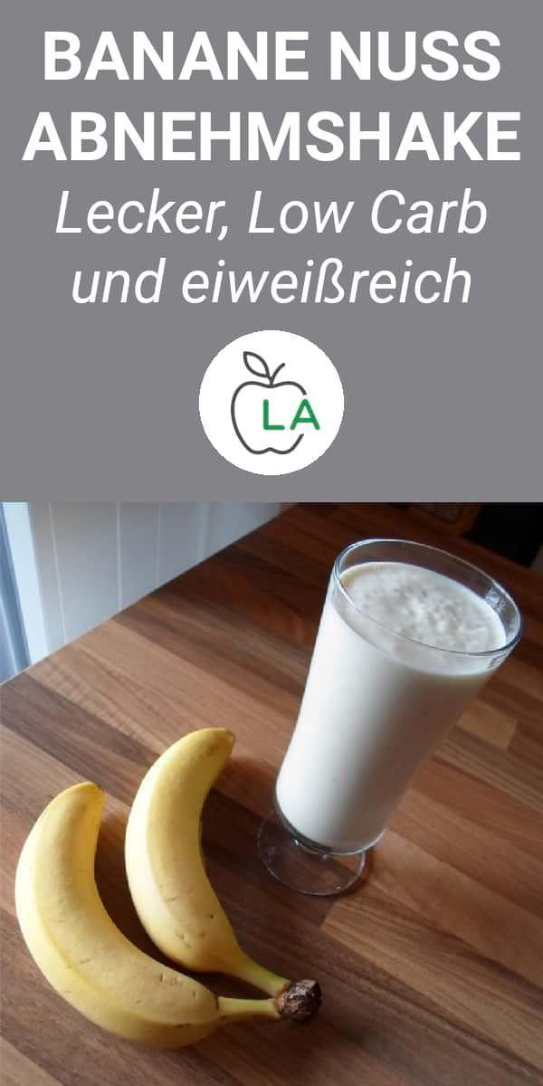 Banane Nuss Eiweißshake zum Abnehmen und für den Muskelaufbau