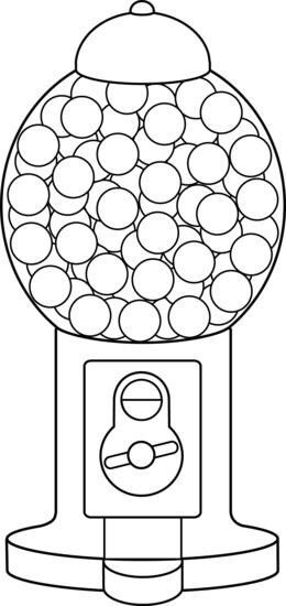 Gum Ball Machine Coloring Page Coloring Pages