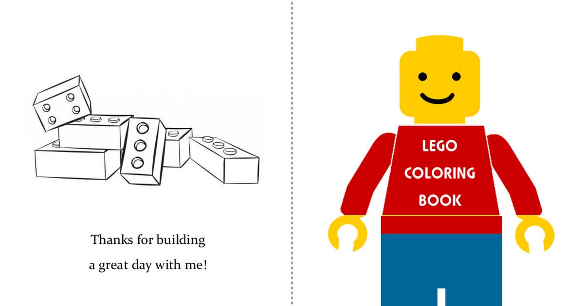 Lego Mini Coloring Book Pdf Lego Coloring Free Lego Lego Birthday