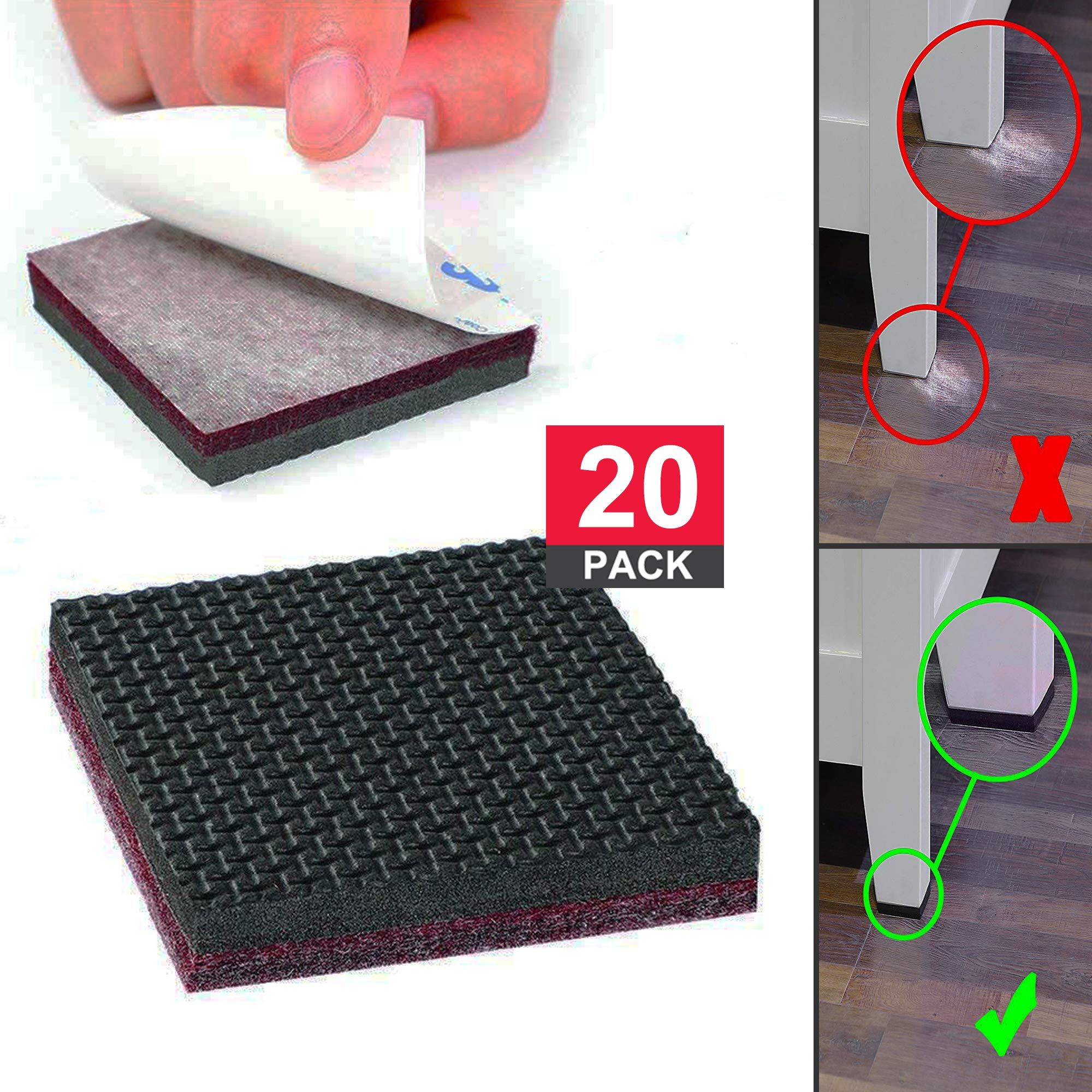 Non Slip Furniture Pads Chair Leg Floor Protectors Self Adhesive Furniture Grippers For Hardwood Furniture Pads Furniture Grippers Chair Leg Floor Protectors