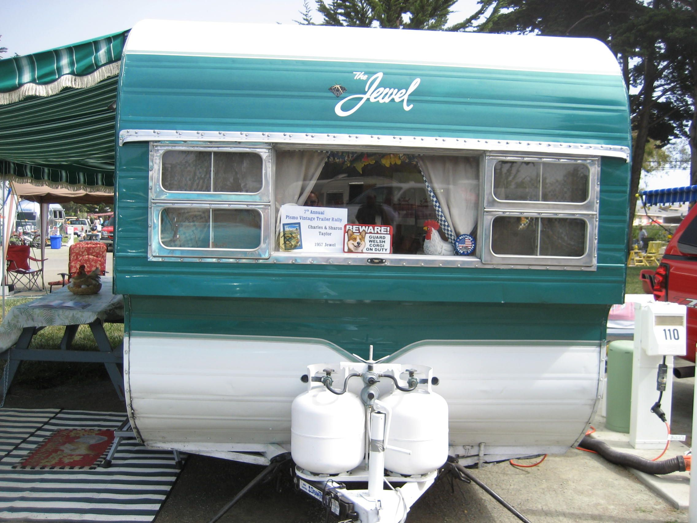 A 1957 jewel 16ft at pismo rally