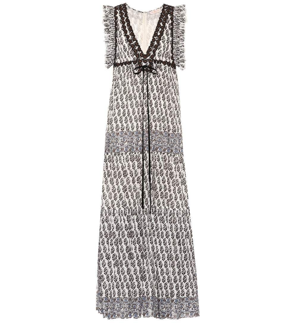Tory burch amita printed cotton dress dresses pinterest