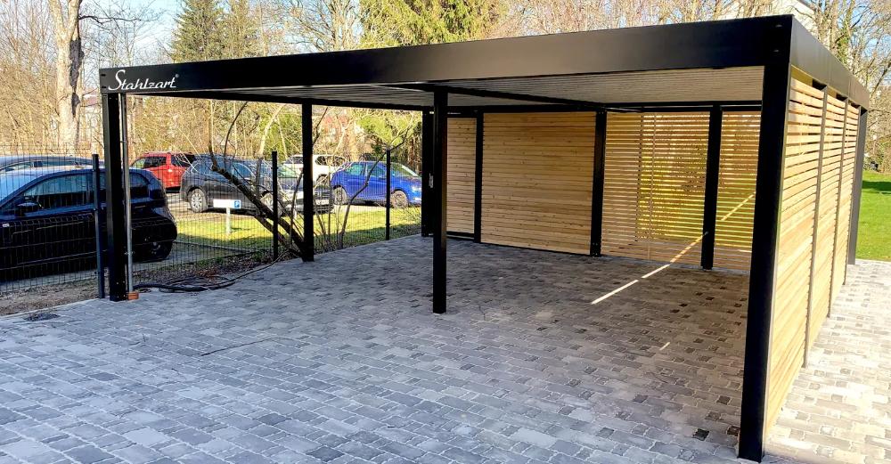 Pin auf Modern Designer Carport · Wood Metal Steel
