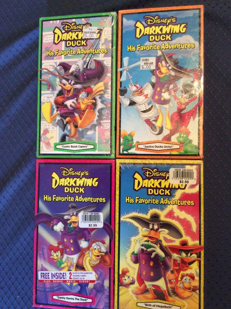 Details about Darkwing Duck NEW VHS Lot 4 Disney Children