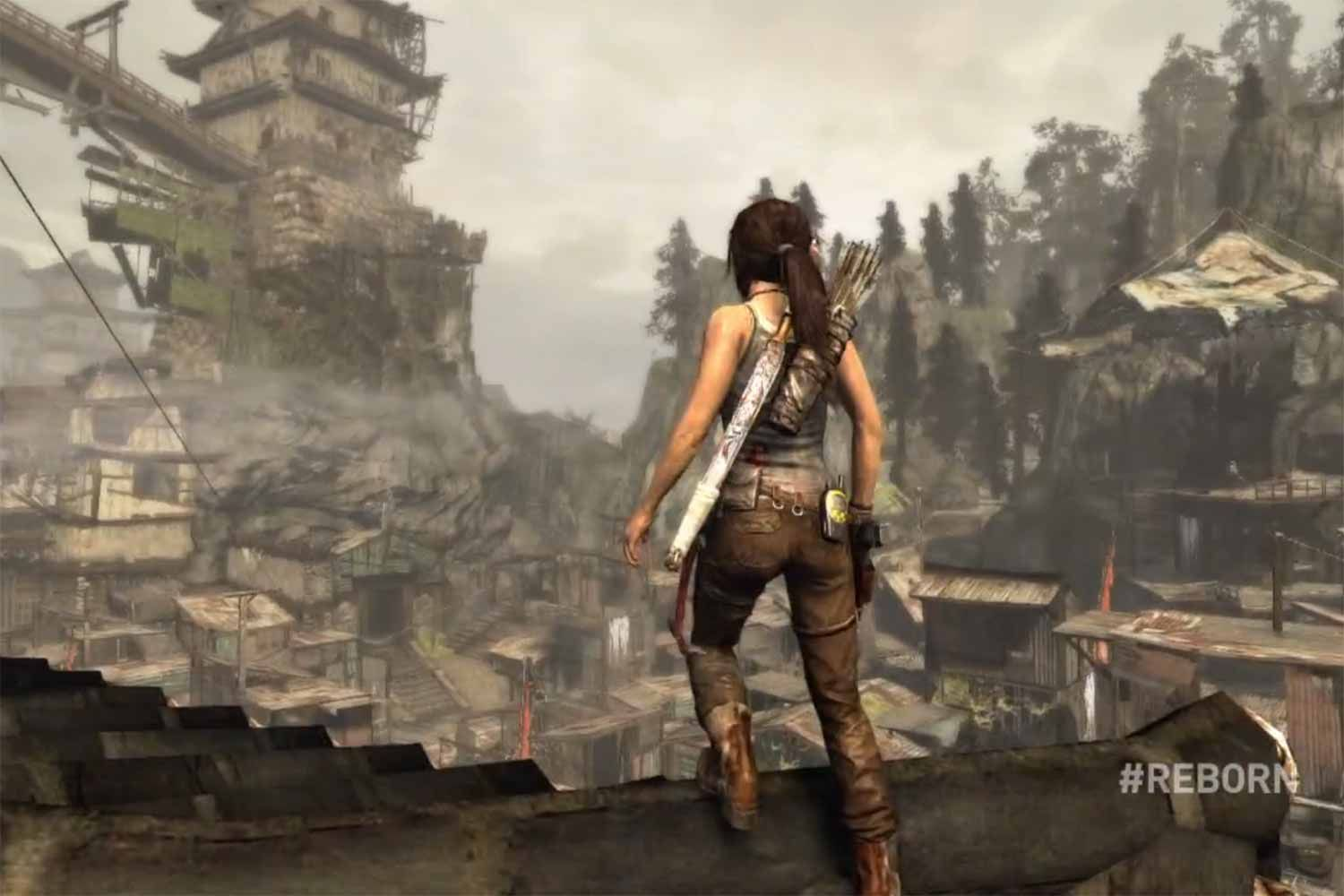 Scene From The Game Tomb Raider 2013 Tomb Raider Game Tomb