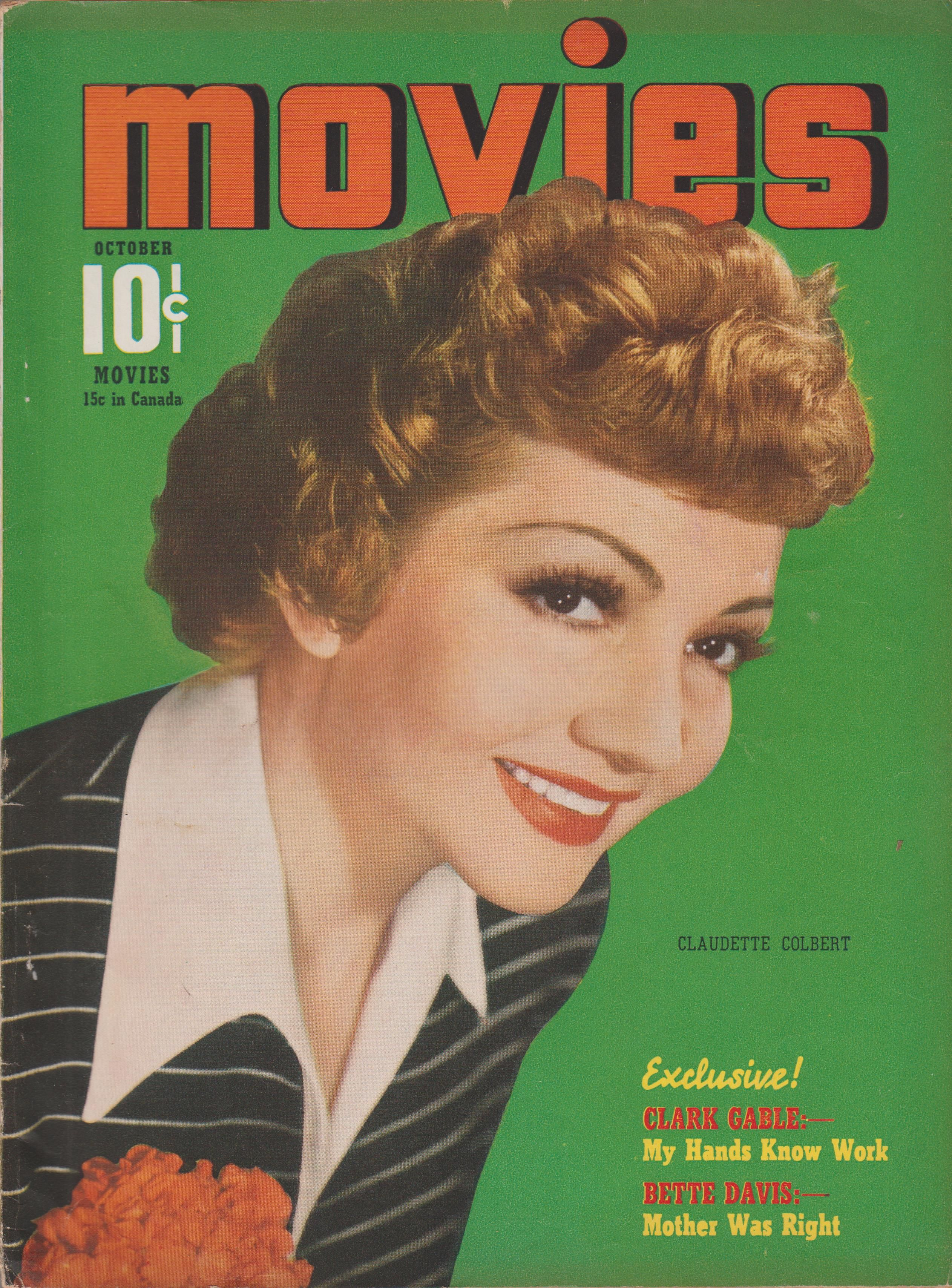 Claudette Colbert on the October 1940 Movies