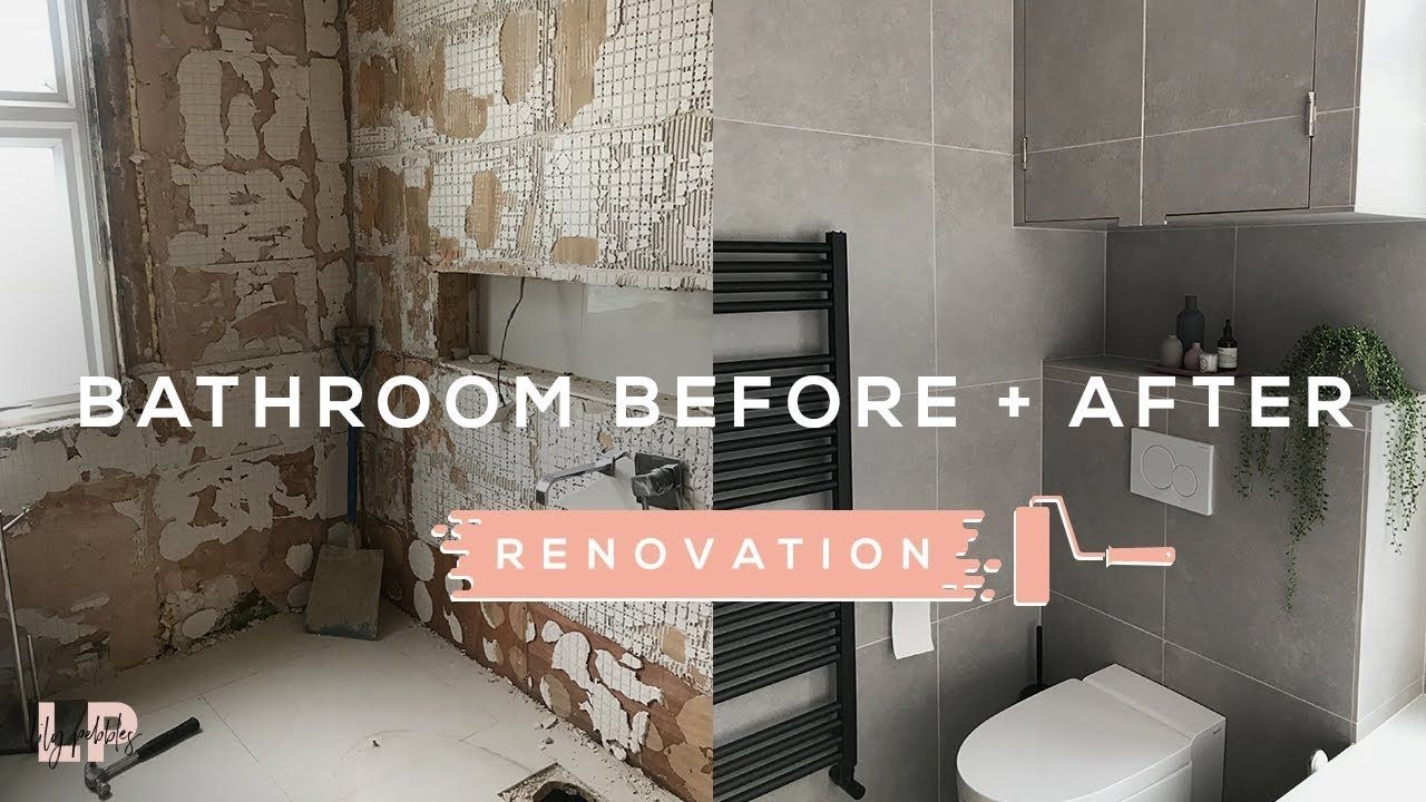 Bathroom Renovation Before After Lily Pebbles Youtube Bathroom Remodel Small Diy Easy Bathroom Makeover Cheap Bathroom Makeover