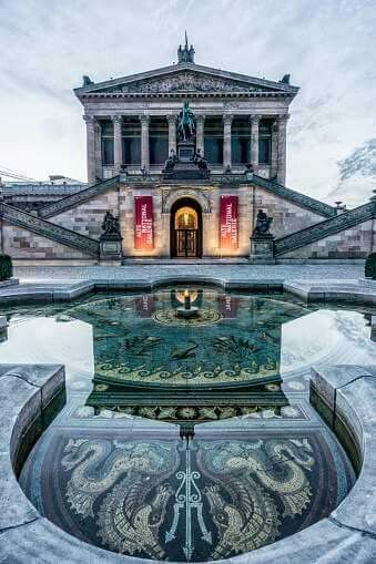 Alte Nationalgalerie. Museo d'arte a Berlino, Germania.