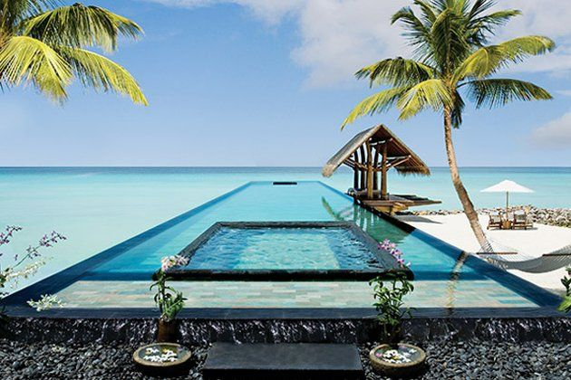One Reethi Rah, Maldives. This stunning Maldivian retreat is a hot favourite of travellers and we think it has something to with its multiple pools, especially the main infinity lap pool with its accompanying sala. It even has an in-pool bed towards the end where you can lie down and soak up some sun without getting too hot. (http://reethirah.oneandonlyresorts.com)