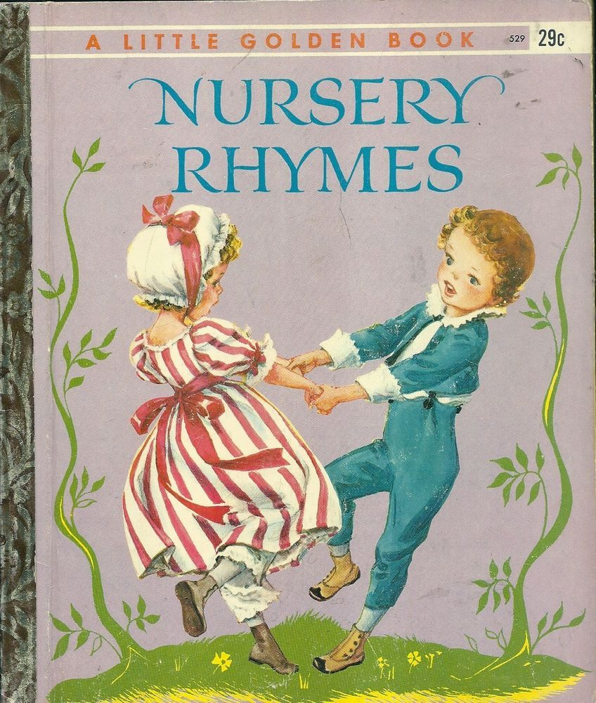 "VINTAGE! 1940's Children's Little Golden Book~NURSERY RHYMES ""A"" 1st"
