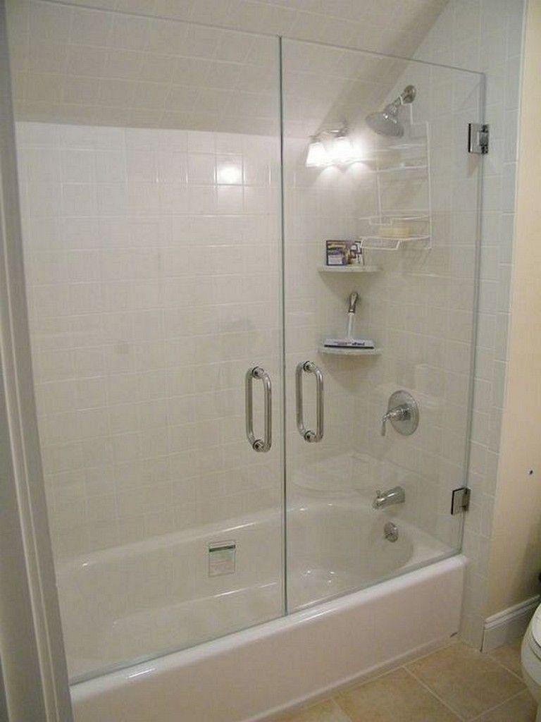 25 Awesome Efficient And Modern Sliding Door Models In The Bathroom Bathtub With Glass Door Bathtub Shower Bathroom Shower Doors