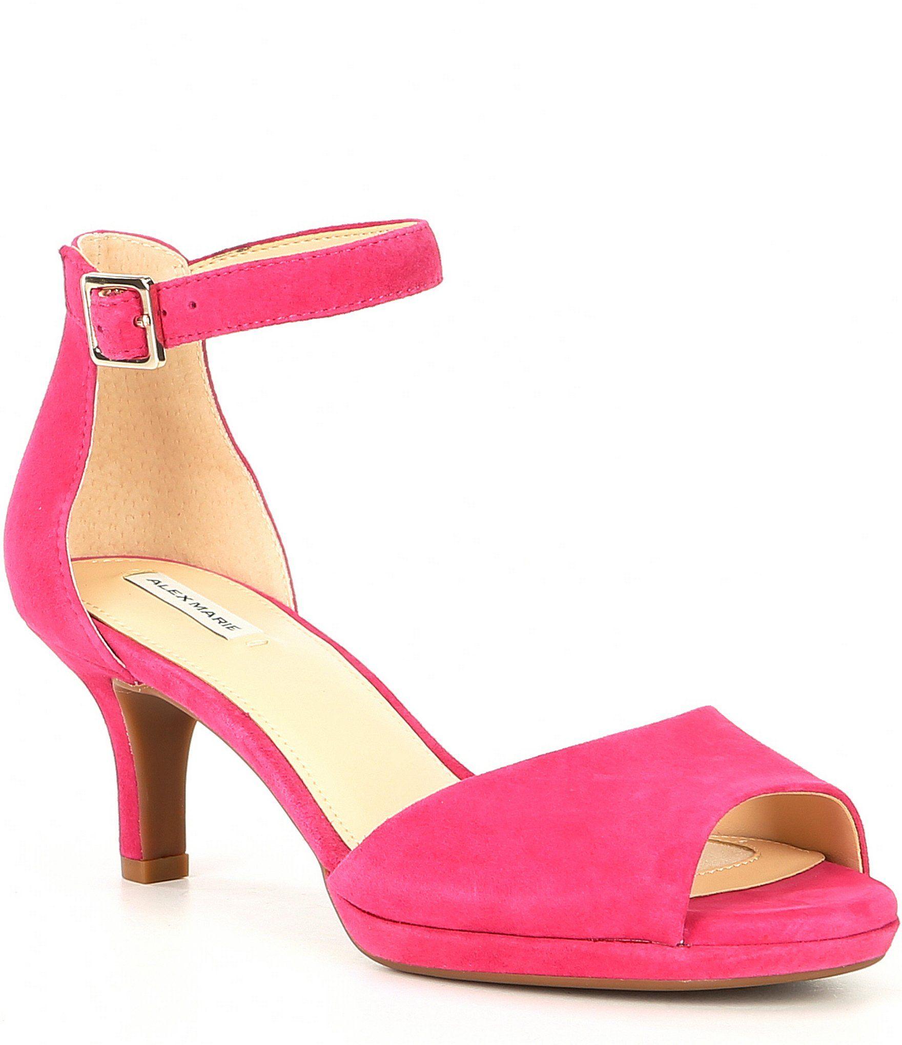 Alex Marie Bevali Suede Ankle-Strap Platform Sandals | Dillard's 2
