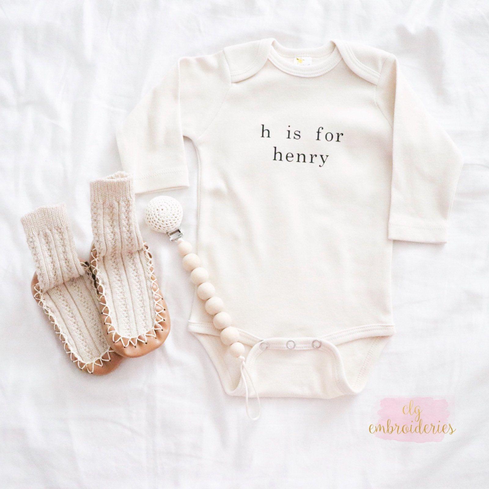 Alphabet Baby Name Onsie