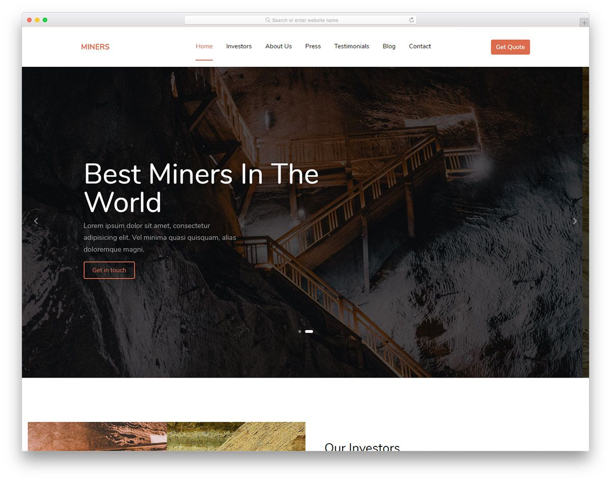 Harbaughfamilyconstruction Responsive: Free Mining Company Website Template 2020