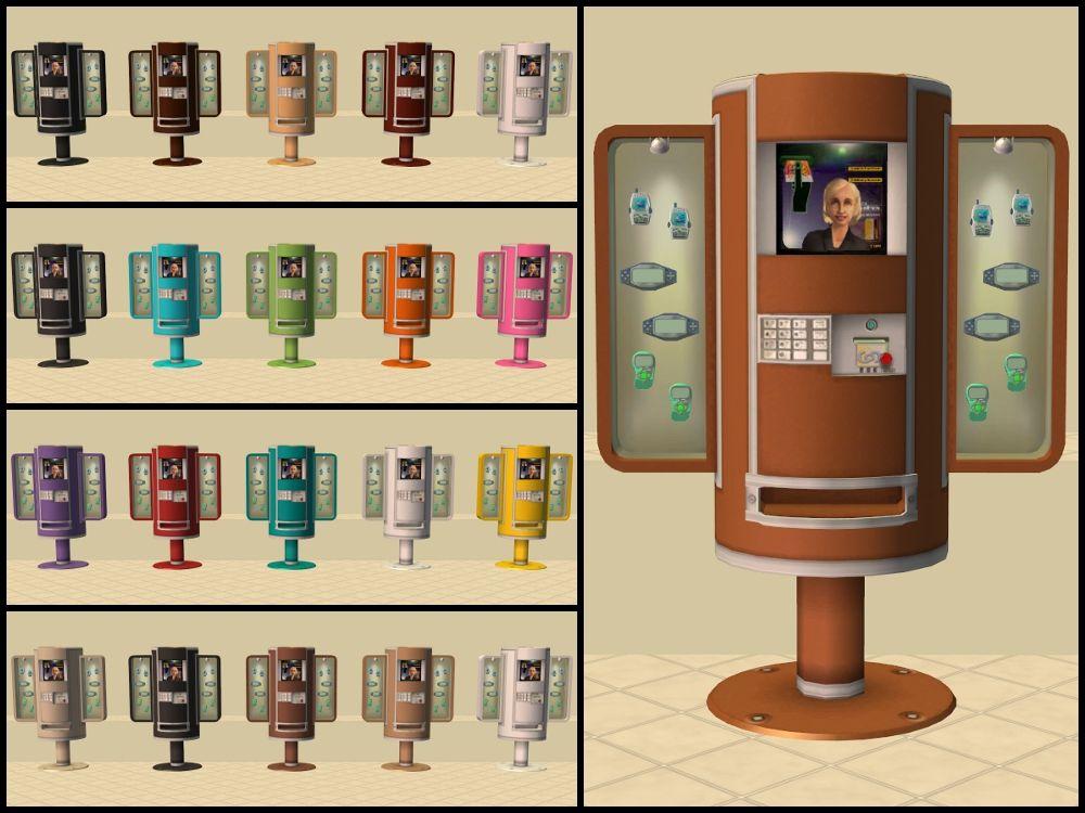 Mod The Sims Sellafone Gadget Kiosks Recolours The