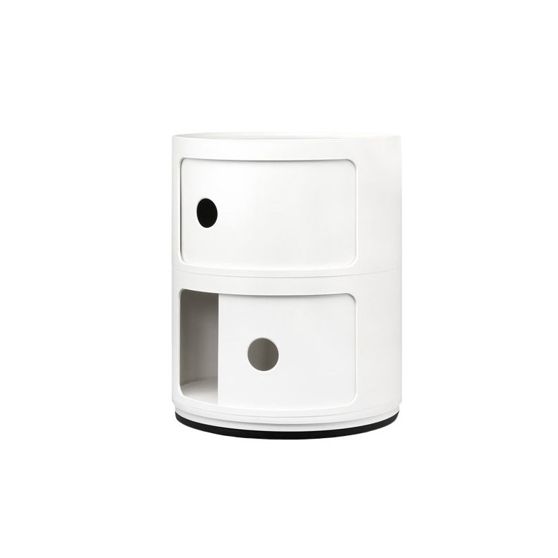 Componibili Storage Unit 2 Modules White Storage The