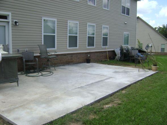 Poured Concrete Patio Ideas | No Colors   Patios U0026 Deck Designs    Decorating Ideas