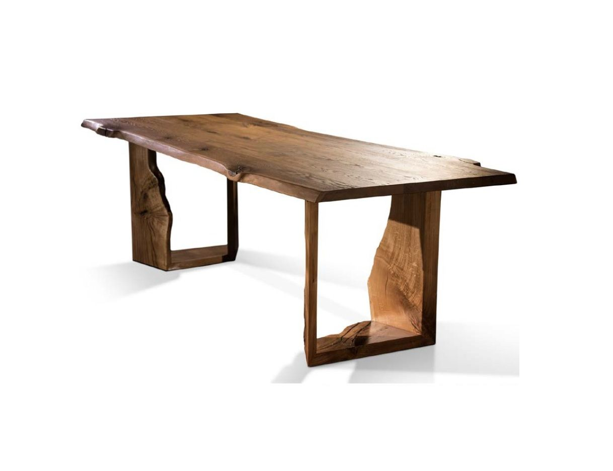 Mesa De Comedor Rústica Con Tablero Desgastado Y Pies También En Forma Del Tronco Dining Table Furniture Home Decor