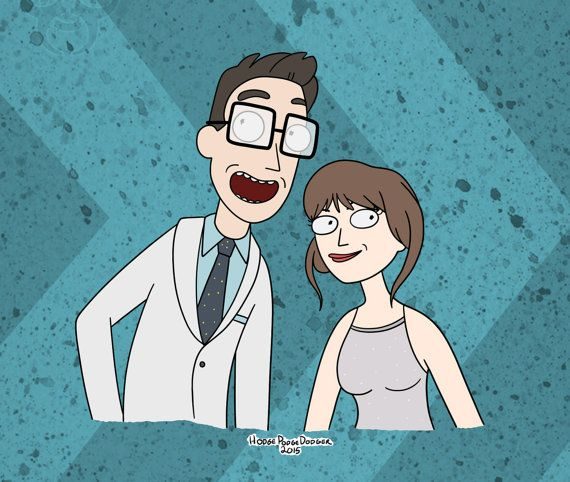 Yourself in the Rick and Morty style! drawing personalized