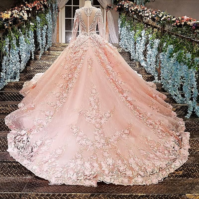 Romantic Romantic Ball Gown 2019 New Sexy Long Sleeve White Beaded Lace Tulle 2019 Dubai Saudi Muslim Arabic Wedding Dress Boho Sofuge Ve Back To Search Resultsweddings & Events