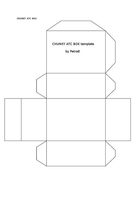Chunky Atc Box Template Trading Card Template Artist Trading Cards Atc Cards