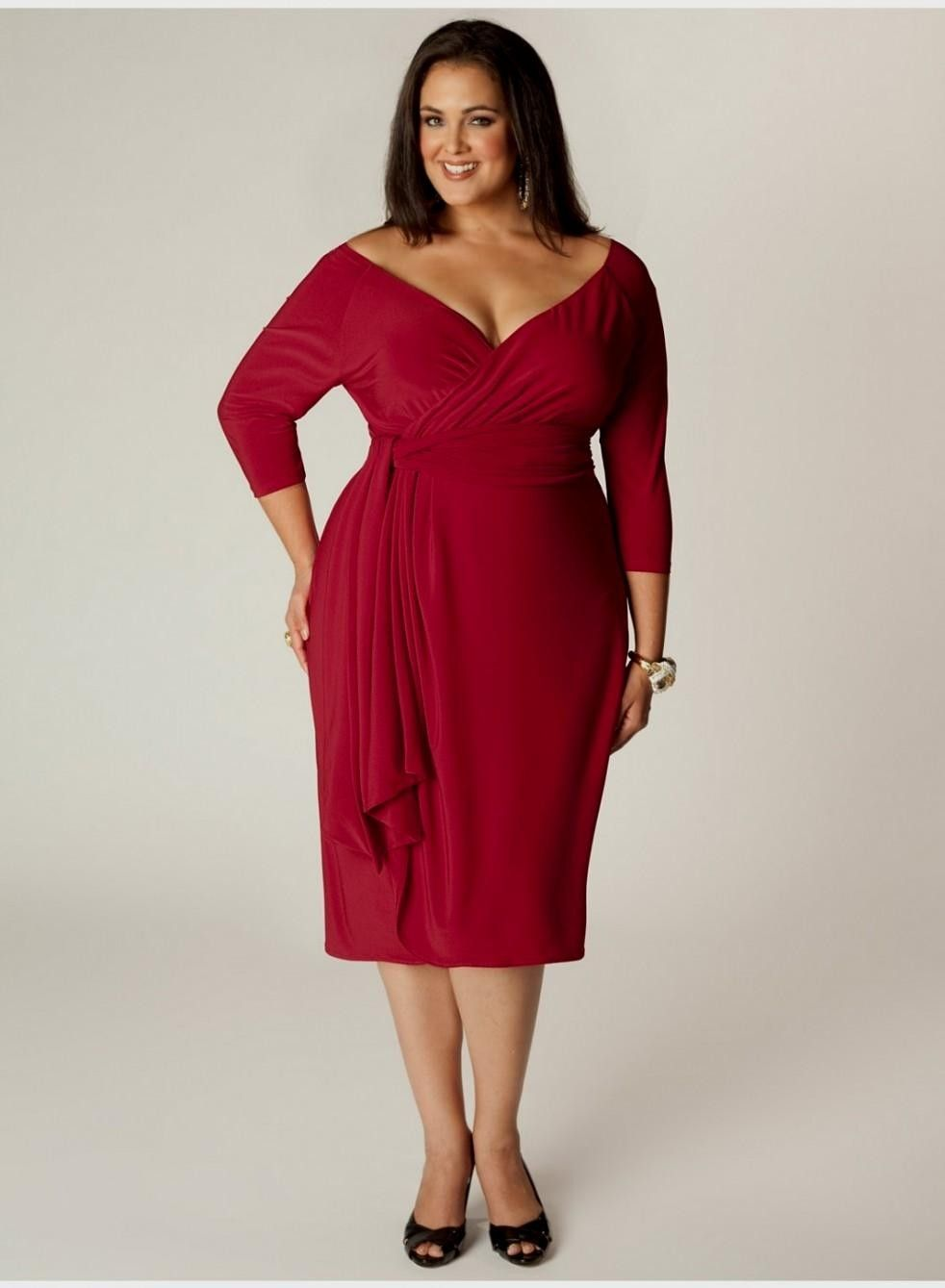 Lovely Plus Size Cocktail Dresses : Plus Size Cocktail Dress In Red ...