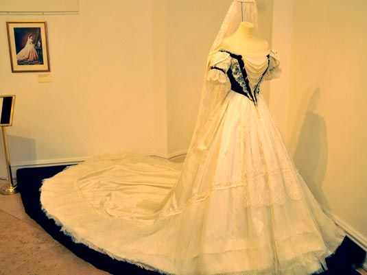 A replica of Empress Elisabeth's Hungarian coronation gown.