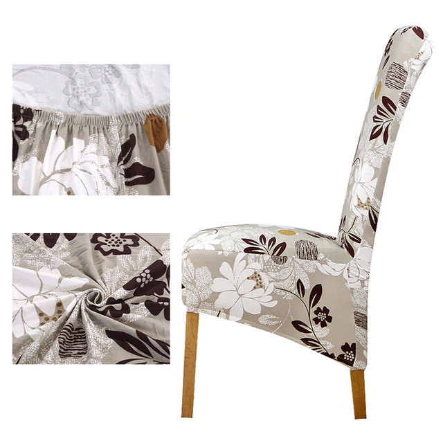 Long Back Chair Cover European Style In 2020 Chair Cover Cheap Chair Covers Black Chair Covers