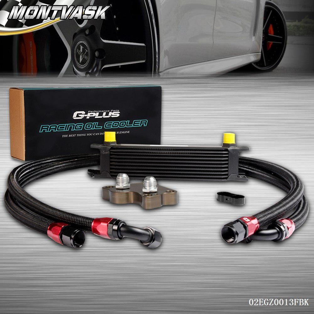 10 Row Engine Oil Cooler Relocation Kit For Bmw Mini Cooper