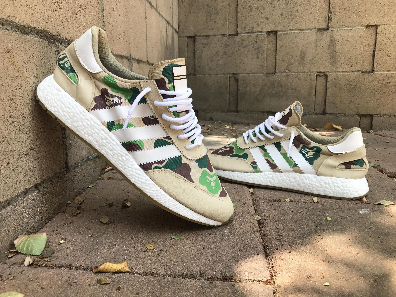 6299725791 Adidas Iniki Runner Boost - Bape custom