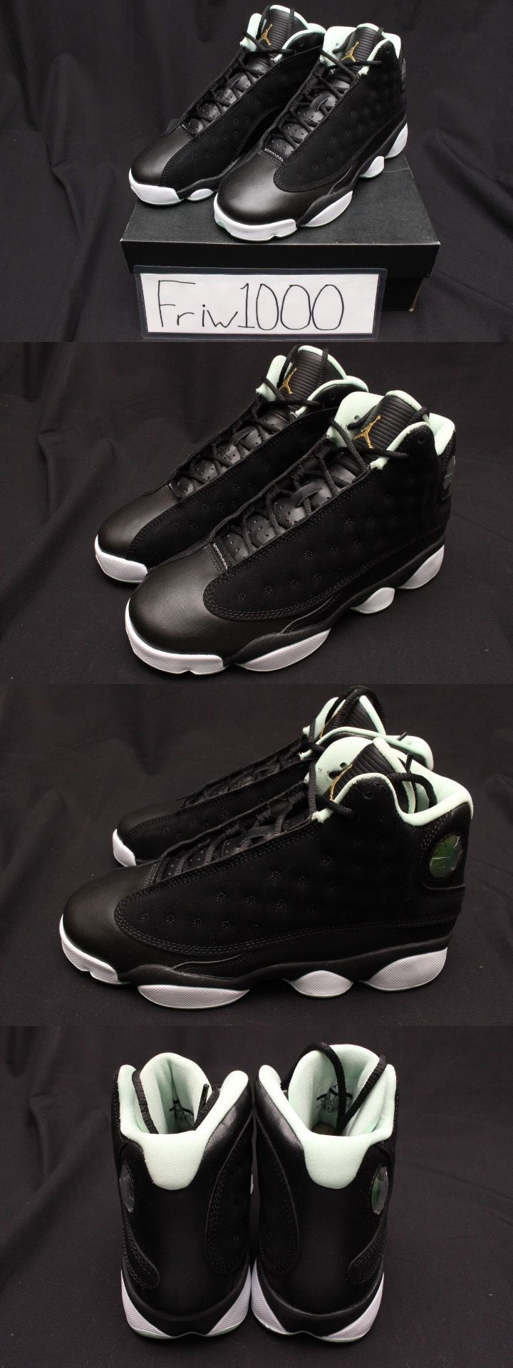 pretty nice 0ed5e 32e35 norway girls shoes 57974 nike girls air jordan 13 retro gs sizes black gold  mint 439358
