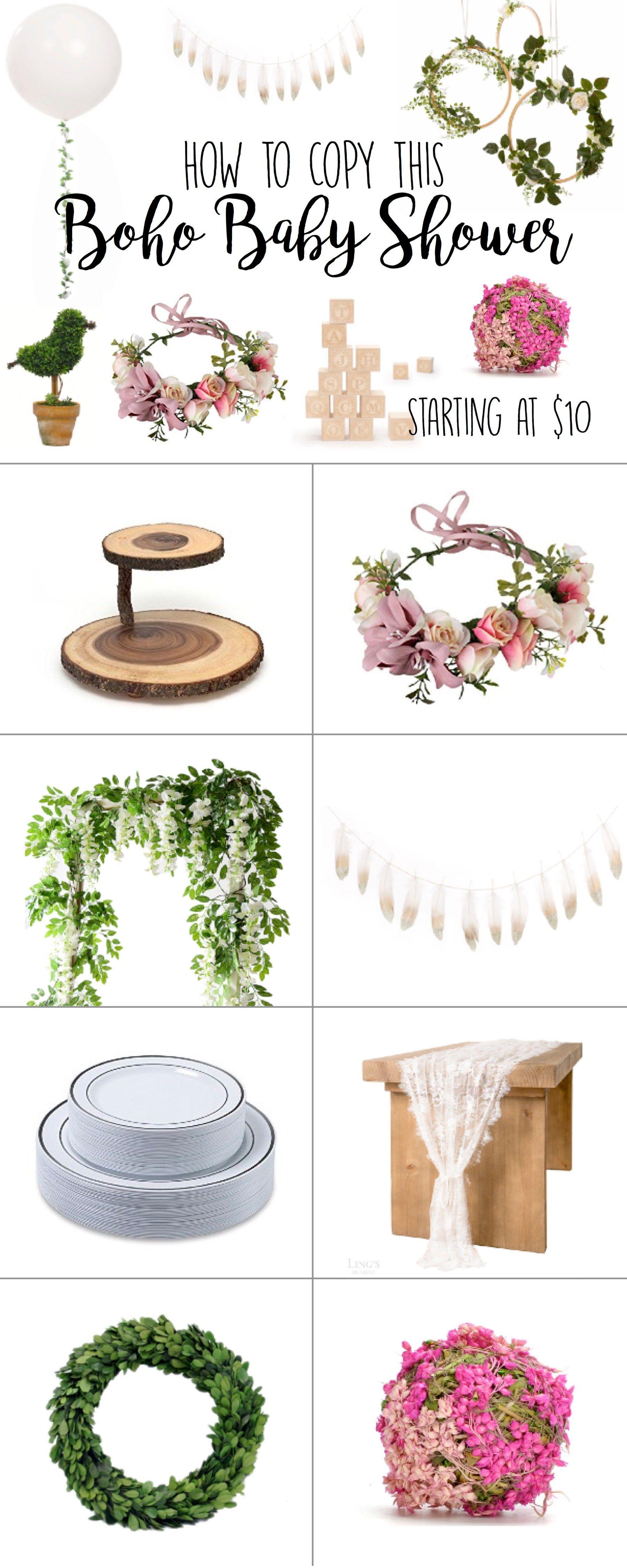 Boho Baby Shower Ideas – Elegant theme for boy or girl baby shower