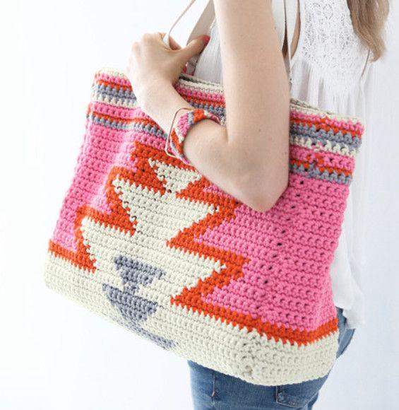 Crochet Tote Bag Modèle Sac Cabas Femme Modèles