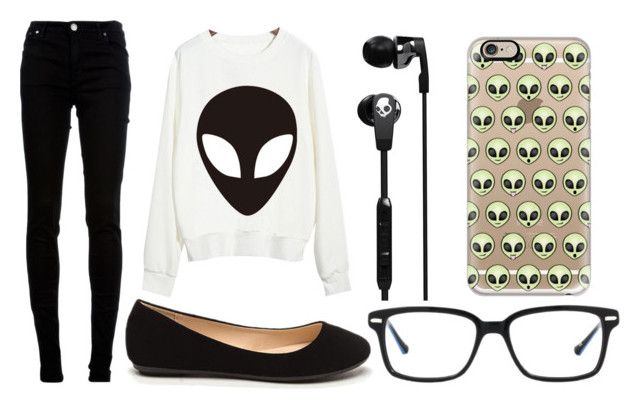 """Alien Week:Thursday"" by doodlebob3 ❤ liked on Polyvore featuring Chicnova Fashion, dVb Victoria Beckham, Original Penguin, Casetify and Skullcandy"